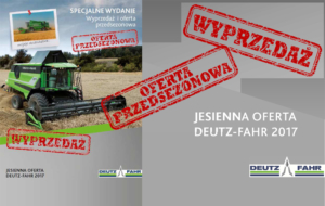 Wyprzedaż i oferta przedsezonowa Deutz-Fahr