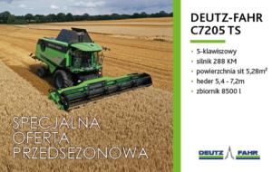 (Przed)sezon pełen zysków z kombajnem Deutz-Fahr C7205 TS