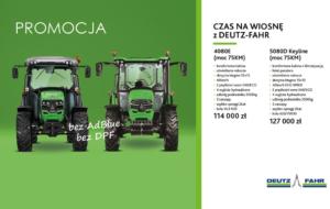 """Promocja """"CZAS NA WIOSNĘ z DEUTZ-FAHR"""" – ciągniki 4080 E oraz 5080 D KEYLINE"""